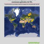 Base de datos de puntos críticos de emisiones globales de SO2