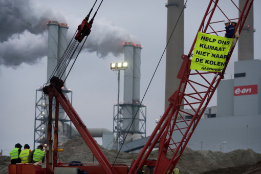 Climate Action E.ON at the Maasvlakte in Rotterdam