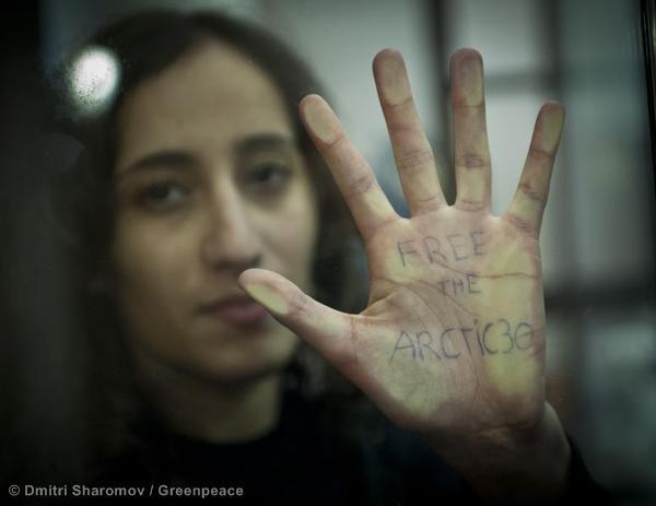 Faiza free the Arctic 30