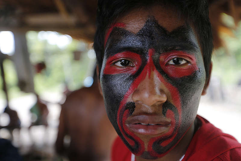 Ka'apor Indigenous Man in Brazil