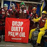 Greenpeace activisten na 33 uur vrijgelaten van schip met foute palmolie