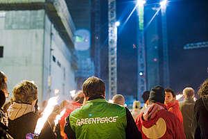 Action Building Site Essent/RWE in Eemshaven. © © Greenpeace / Cris Toala Olivares