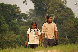 Katiká and André Karipuna in Karipuna Indigenous Land, Brazil. © Rogério Assis / Greenpeace