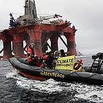 Greenpeace houdt peperduur BP-boorplatform 11 dagen lang tegen