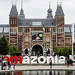 Greenpeace vervangt iconische Iamsterdam-letters door Iamazonia op Museumplein