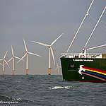 ainbow Warrior Passes Amalia Wind Farm