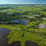 Aerial view of the Pantanal Wetlands in Brazil.