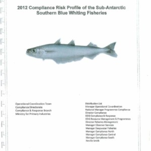 2012 Compliance Risk Profile of the Sub-Antarctic Southern Blue Whiting Fisheries