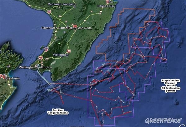 Map: Tangaroa's oil exploration
