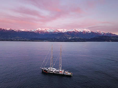 The Rainbow Warrior in Kaikoura