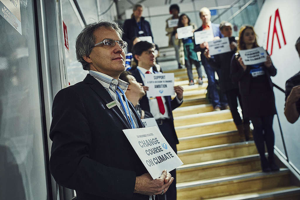 Activists at COP24 encourage delegates to change course on climate.