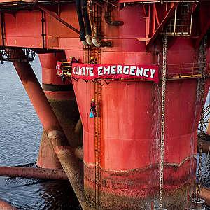 Greenpeace UK action against BP oil rig