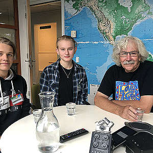 Left to right: Andreas Magnusson, Ell Ottosson Jarl and Rex Weyler meeting in Amsterdam. © Simon Black / Greenpeace