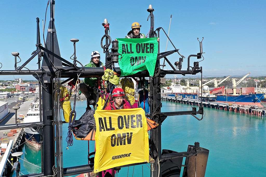 Protest against OMV Timaru