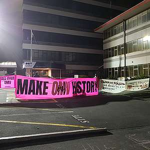 Greenpeace protestors hit by weather in testing night on OMV barricades