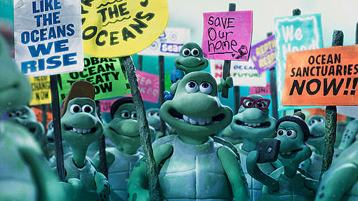 Video grab taken from the stop motion animation 'Turtle Journey', produced by Aardman Animations and Greenpeace UK to highlight the plight of the oceans.