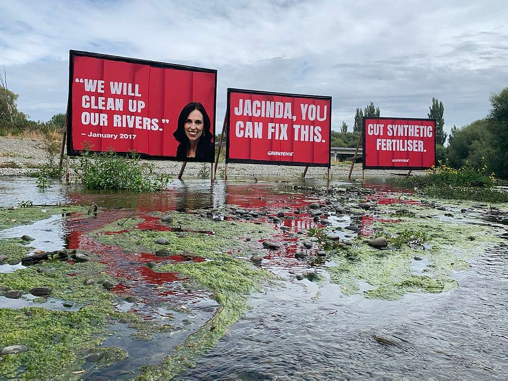"""""""We will clean up our rivers"""" - Jacinda Ardern"""