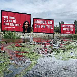 """We will clean up our rivers"" - Jacinda Ardern"