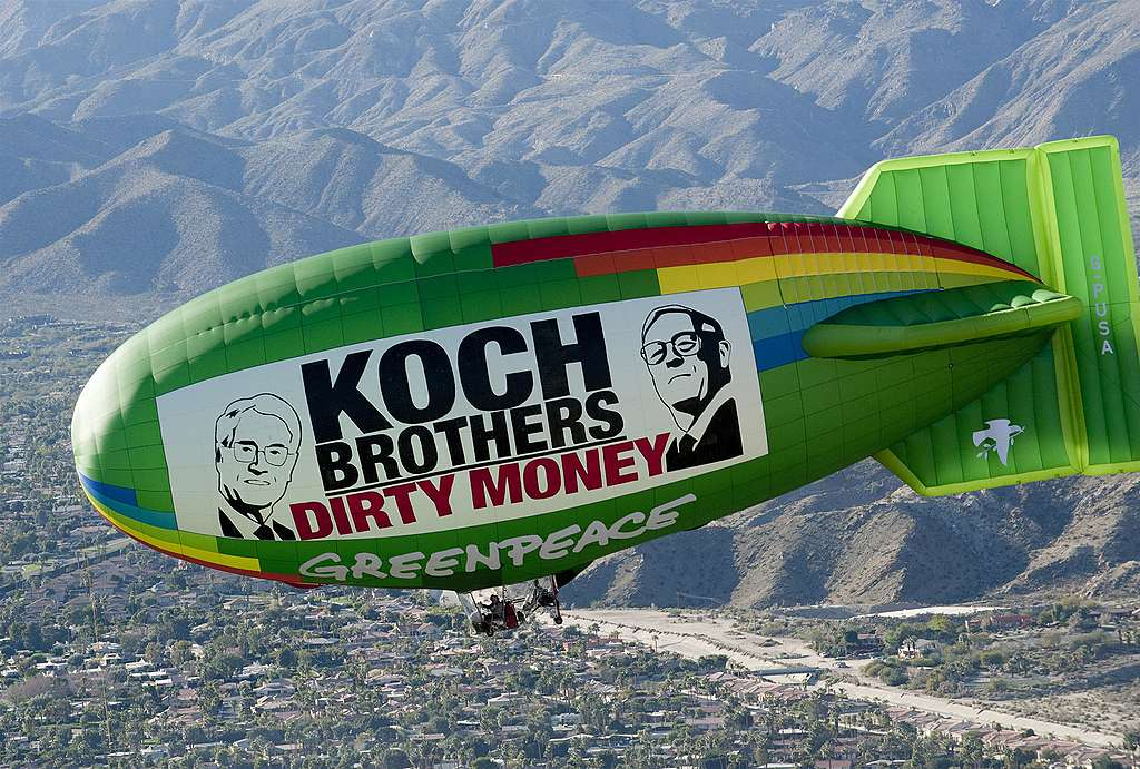 Koch brothers dirty money funding climate denial