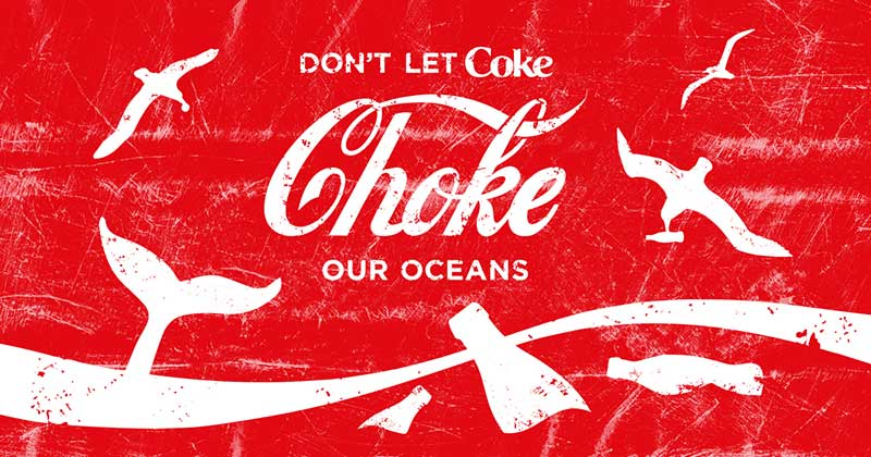 Coke – face your plastic footprint