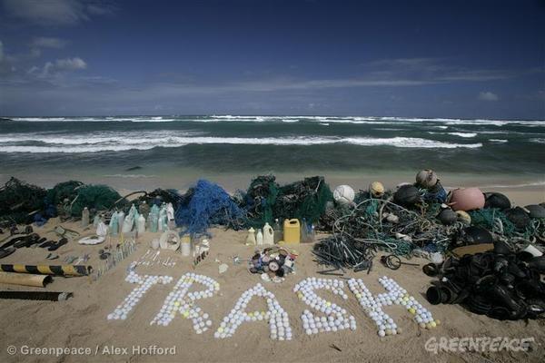 Plastsøppel funnet på strand