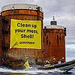 Aksjonerer mot oljeinstallasjoner i Nordsjøen