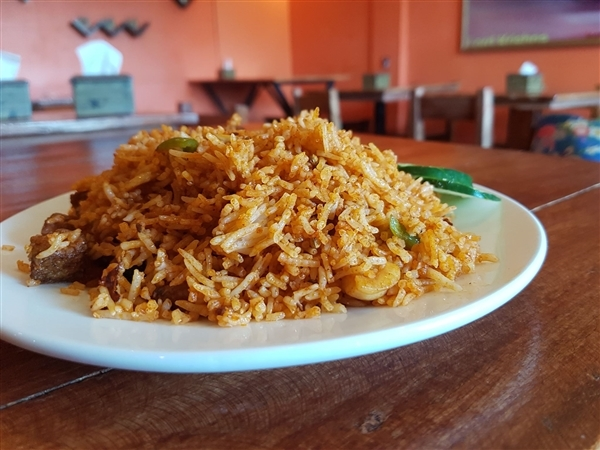 Veggie chicken fried rice at Little India