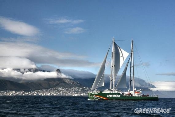 Rainbow Warrior sets sail in Manila