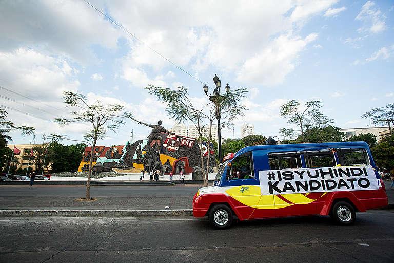 #IsyuHindiKandidato Campaign Launch in Manila. © Geric Cruz / Greenpeace