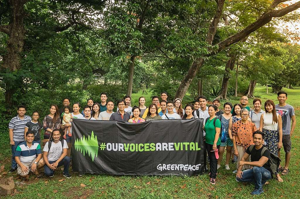 """Our Voices Are Vital"" Activity in Quezon City, Philippines. © Jilson Tiu / Greenpeace"
