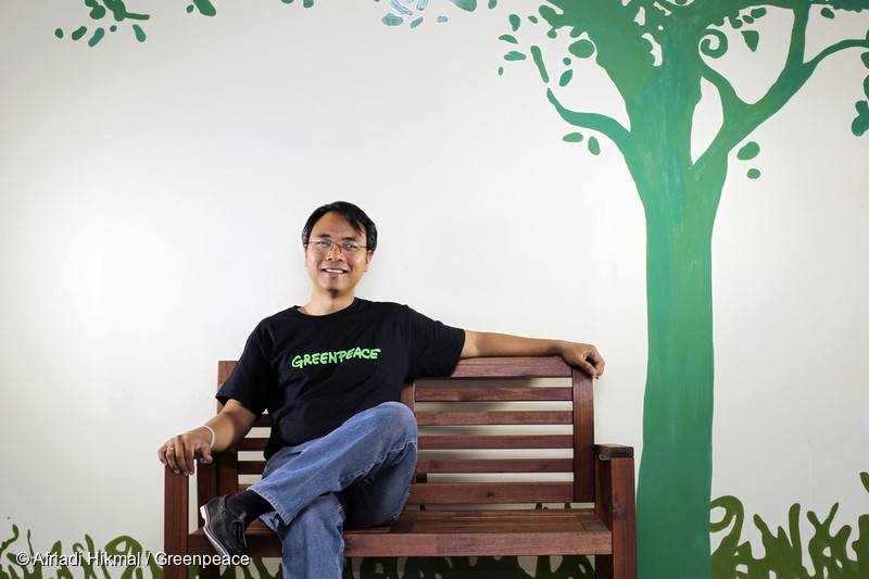 "Executive Director of Greenpeace Southeast Asia Naderev ""Yeb"" Saño poses for portrait in Greenpeace Jakarta office, Wednesday, January 27, 2016."