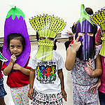 Children in vegetable costumes. © Greenpeace / Grace Duran-Cabus