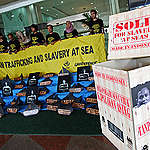 Slavery at Sea Protest in Jakarta. © Jurnasyanto Sukarno / Greenpeace