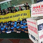 Slavery at Sea Protest in Jakarta. © Jurnasyanto Sukarno / Greenpeace