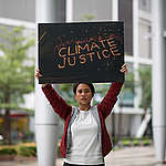 Activist Protest at Shell Headquarters in Manila. © Geric Cruz / Greenpeace