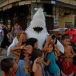 Cebu Residents Lead Call for National Protection of Sharks in Philippines. © Victor  Kintanar / Greenpeace