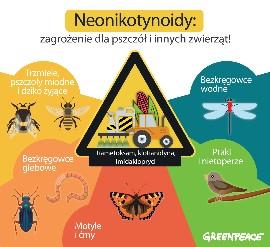 Neonikotynoidy są groźnie nie tylko dla pszczół