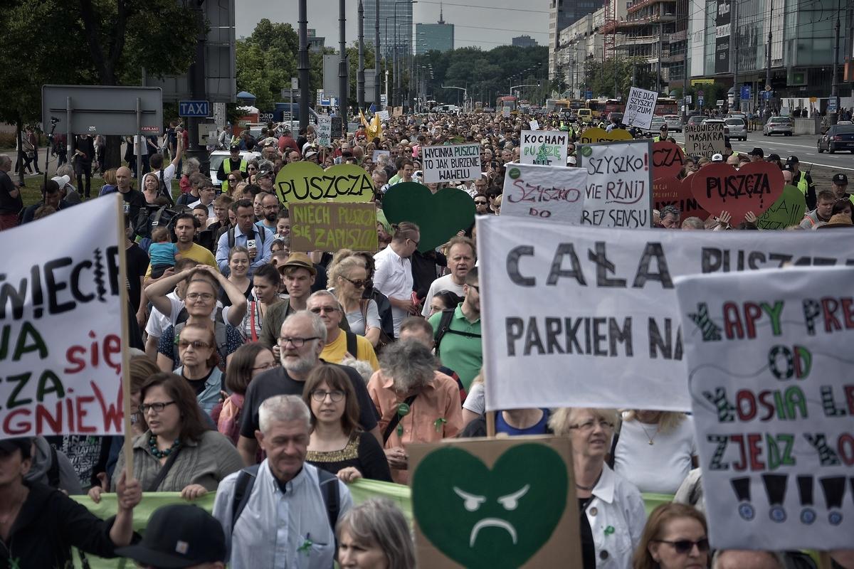 Marsz dla Puszczy w Warszawie