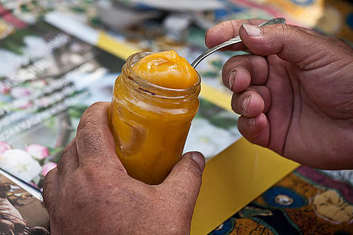 Honey on Ecological Farm in Bulgaria. © Ivan  Donchev / Greenpeace