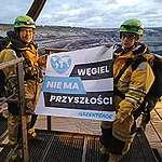 Protest w kopalni odkrywkowej Garzweiler w Niemczech