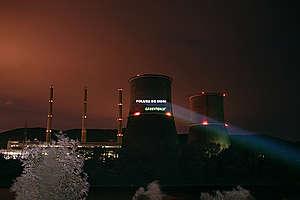 Acțiune la termocentrala Mintia. © Dan Campean / Greenpeace
