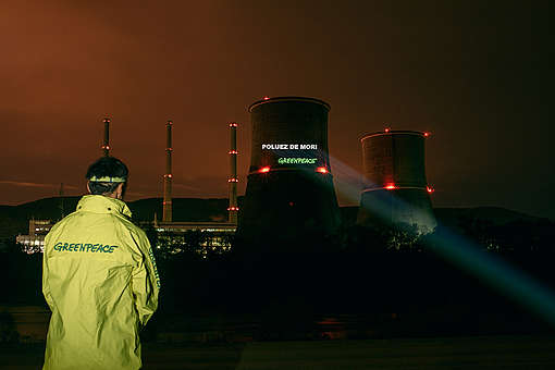 Action at Illegal Coal Power Plant in Romania. © Dan Campean / Greenpeace
