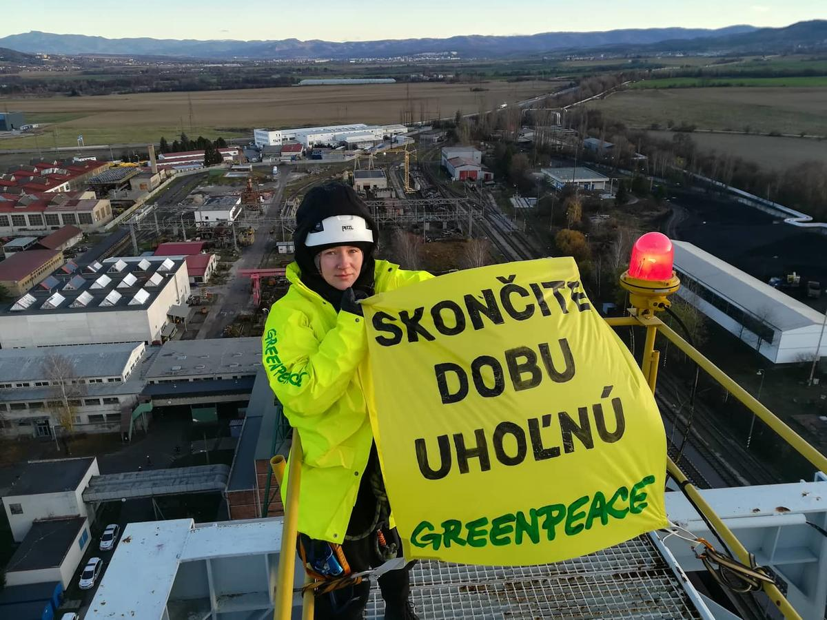 Action at Coal Mine in Nováky Slovakia. © Vladimir Benko / Greenpeace