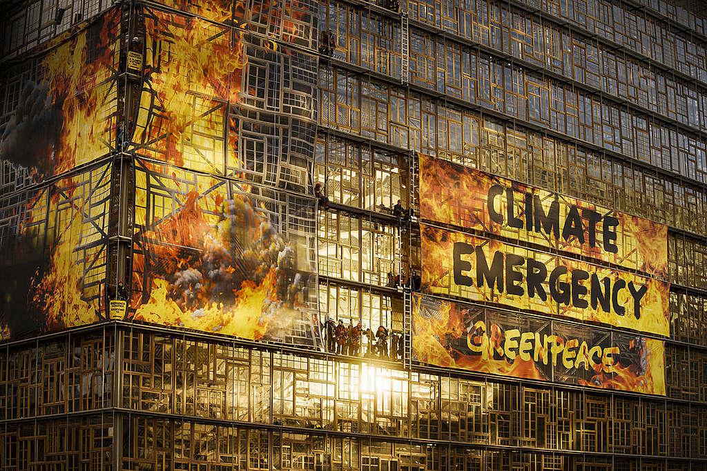 European Council. © Eric De Mildt / Greenpeace