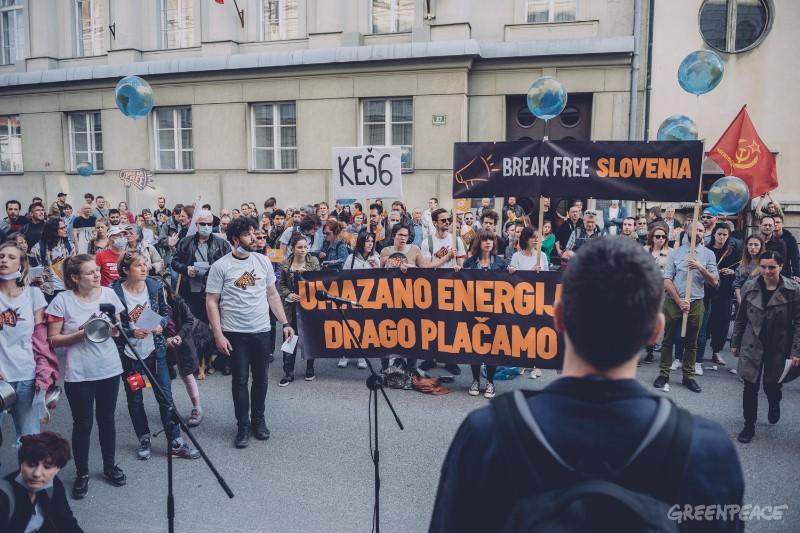 Gibanje Break Free, Ljubljana, 29. marec 2017. (c) M. Kranjec / Greenpeace.