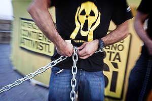Anti-nuclear Protest Pincio in Rome. © Francesco Alesi / Greenpeace