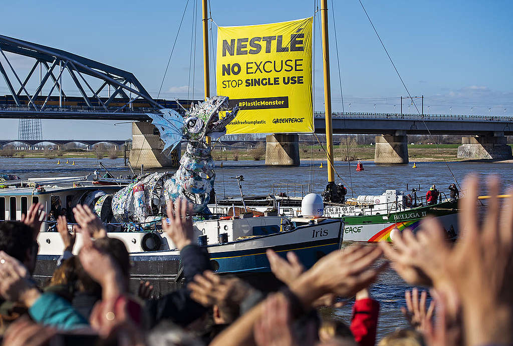 Plastival, Nijmegen. © Marten van Dijl / Greenpeace
