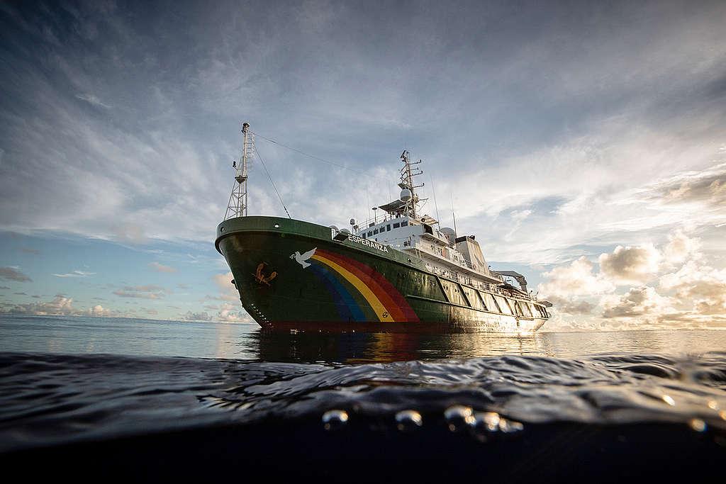 MY Esperanza v Indijskem oceanu. © Will Rose / Greenpeace