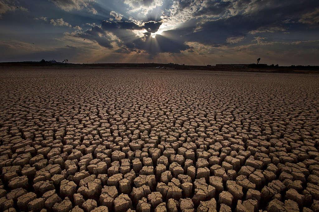 Silovita suša v južnem delu Kitajske.