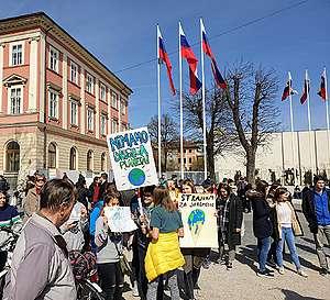Podnebni protest, 15. marec, Ljubljana.